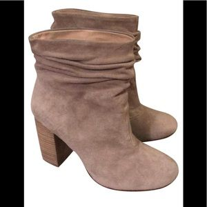 Chinese laundry suede tan booties